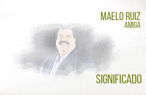 Amiga significado de la canción Maelo Ruiz.