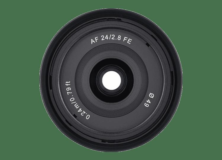 Объектив Samyang AF 24mm f/2.8 FE, вид спереди
