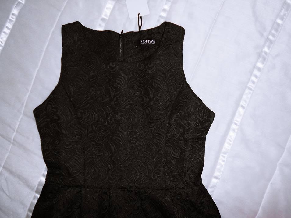 new in   black dress from romwe