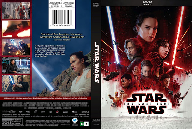 Star Wars The Last Jedi DVD Cover (Scan)