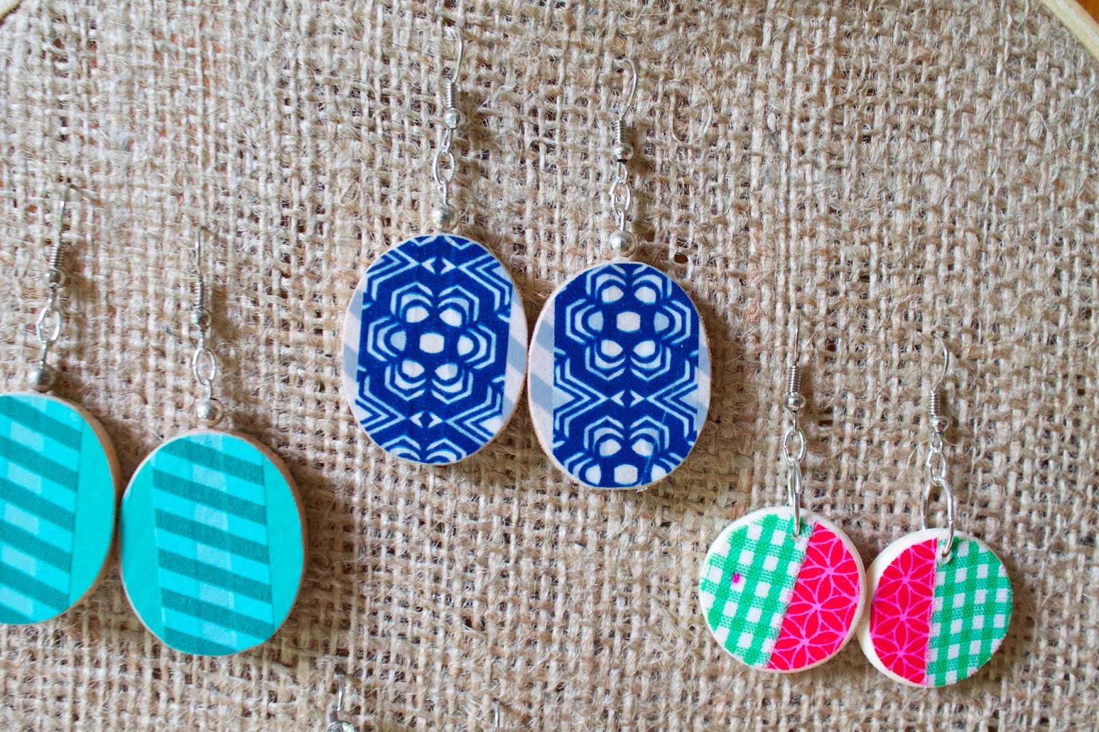 Washi Tale Sowdering About Washi Tape Earrings A Tutorial