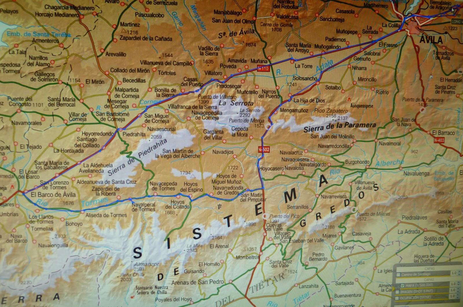 Mapa Sierra De Gredos.Senderismo Con Jrdyc Excursion En Vehiculo Por La Sierra De