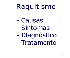 Raquitismo causas sintomas diagnóstico tratamento prevenção riscos complicações