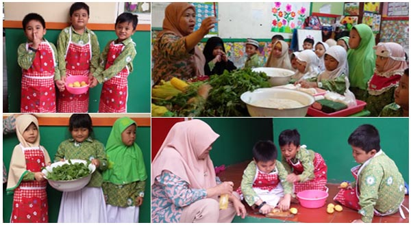 kegiatan cooking class, fun cooking di tk bina insan mandiri