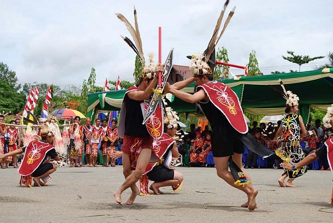 Tari Papatai, Tarian Perang Suku Dayak di Kalimantan Timur