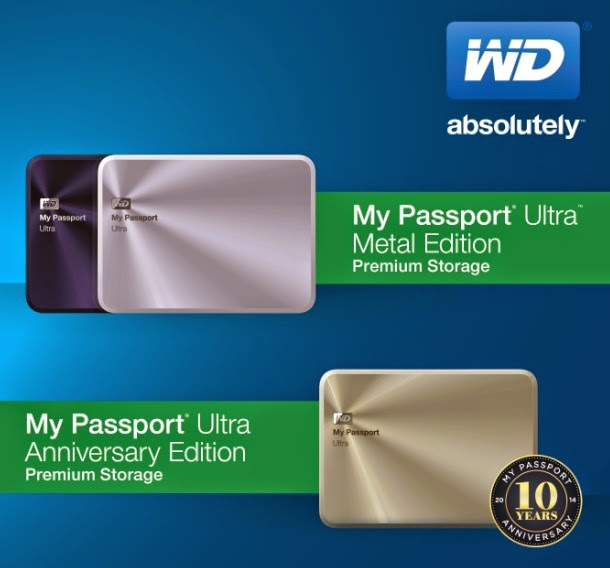 WD My Passport Ultra - Metal Edition and My Passport Ultra - Anniversary Edition
