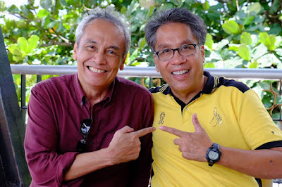 Jim Paredes and Mar Roxas