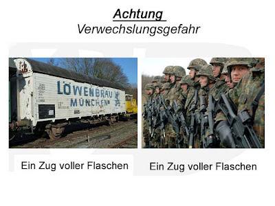lustige Bilder Bundeswehr Zug voller Flachen