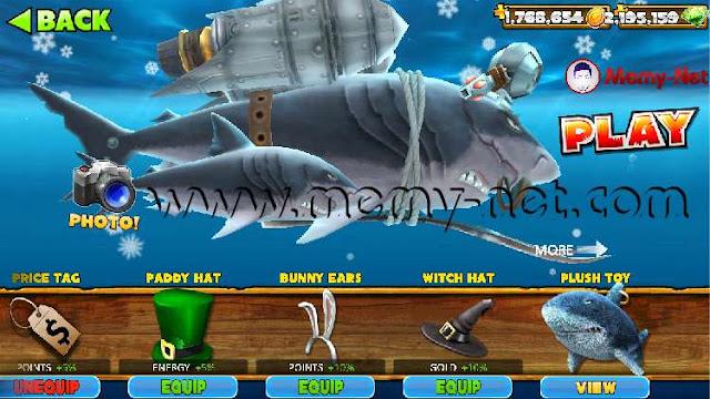 تحميل لعبة القرش الجائع Hungry Shark Evolution MOD مهكرة