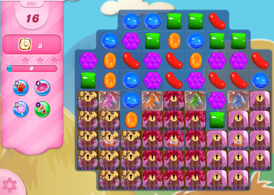 Candy Crush Saga level 2881