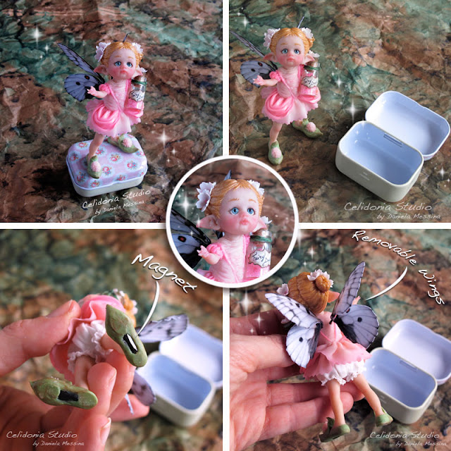 Fairy Dust - Fatina Polvere di Fata in Pasta Sintetica - OOAK Art Doll