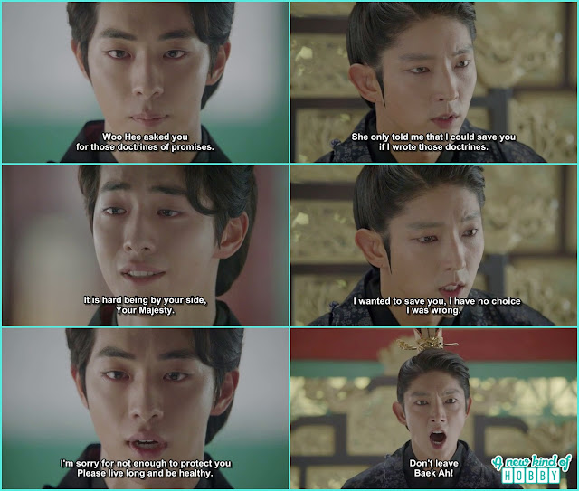 after all heart broken after woo hee death Baeh ah come to the king wang so and told he tired of the palace  - Moon Lovers Scarlet Heart Ryeo - Episode 19