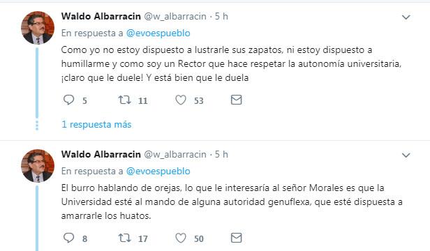 Albarracín y Morales cruzaron tuits en el mundo virtual / TWITTER