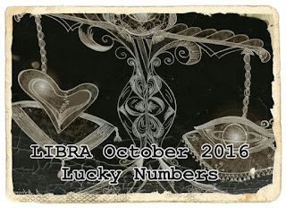 LIBRA October 2016 Lucky Numbers Numerology Chart