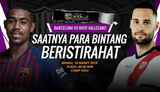 Prediksi Barcelona Vs Rayo Vallecano, Minggu 10 Maret 2019 Pukul 00.30 WIB @ SCTV