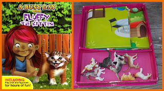 Amscan Cats, Animals, Black & White Cat, Cat In A Box, Cats, Centrum Books, Centrum Publishing, Dogs, Domestic Animal Toys, Domestic Pet Cat Toy, Fluffy The Kitten, Generic Animals, MTC Cats, Pets, Plastic Toys, PVC Figurines, PVC Vinyl Animals, PVC Vinyl Rubber, Small Scale World, smallscaleworld.blogspot.com, Cover of Box and Contents