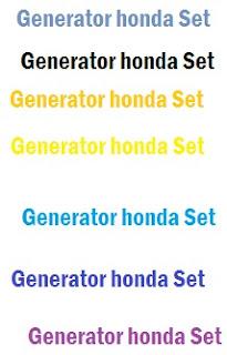 Generator honda Set