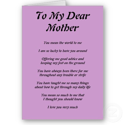 Poem Born From Heart The Mother