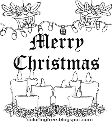 Free Xmas coloring pages Santa merry Christmas drawing to color online ...