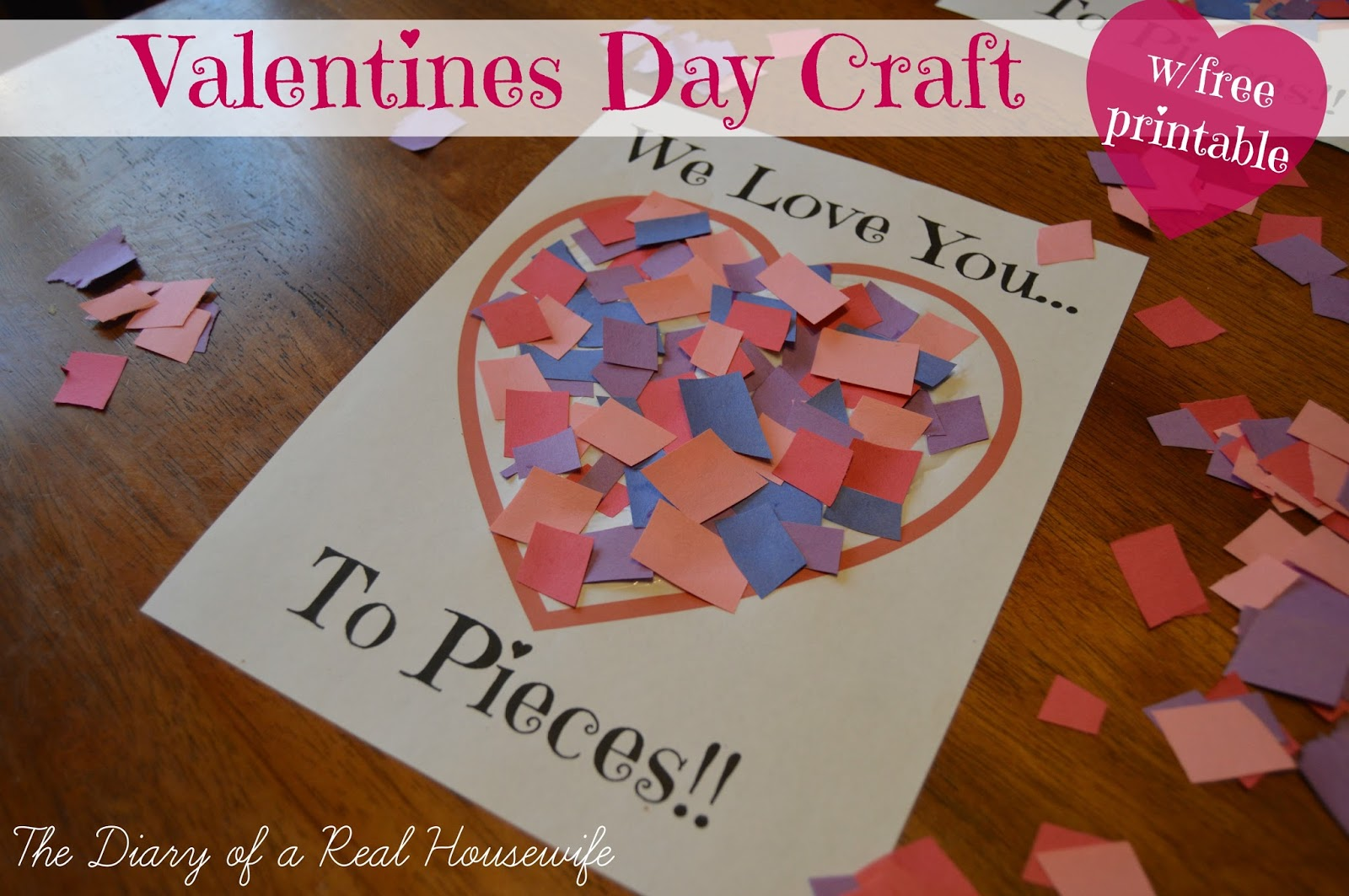 i love you to pieces craft you to pieces valentines day craft free printable 7793