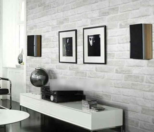 Desain Wallpaper Dinding Ruang Tamu Minimalis modern
