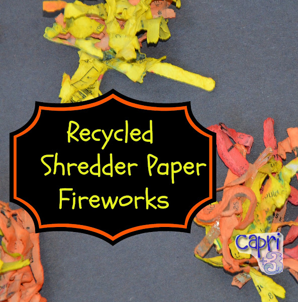 Recycled Shredder Paper Fireworks