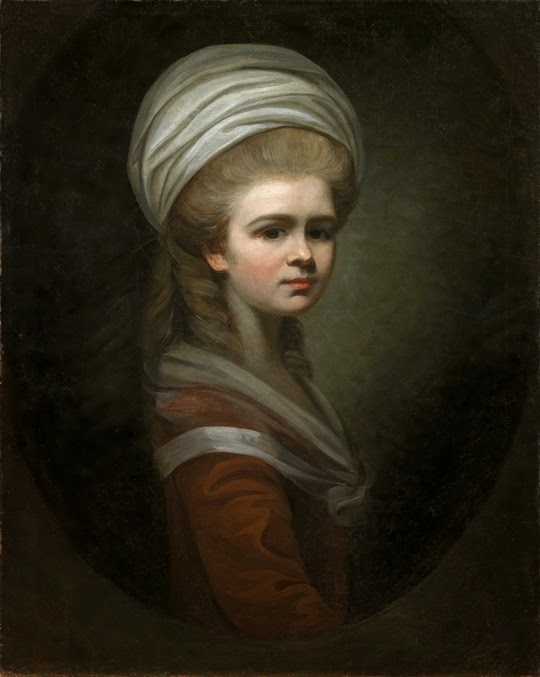 Self-Portrait With Turban, Maria Cosway