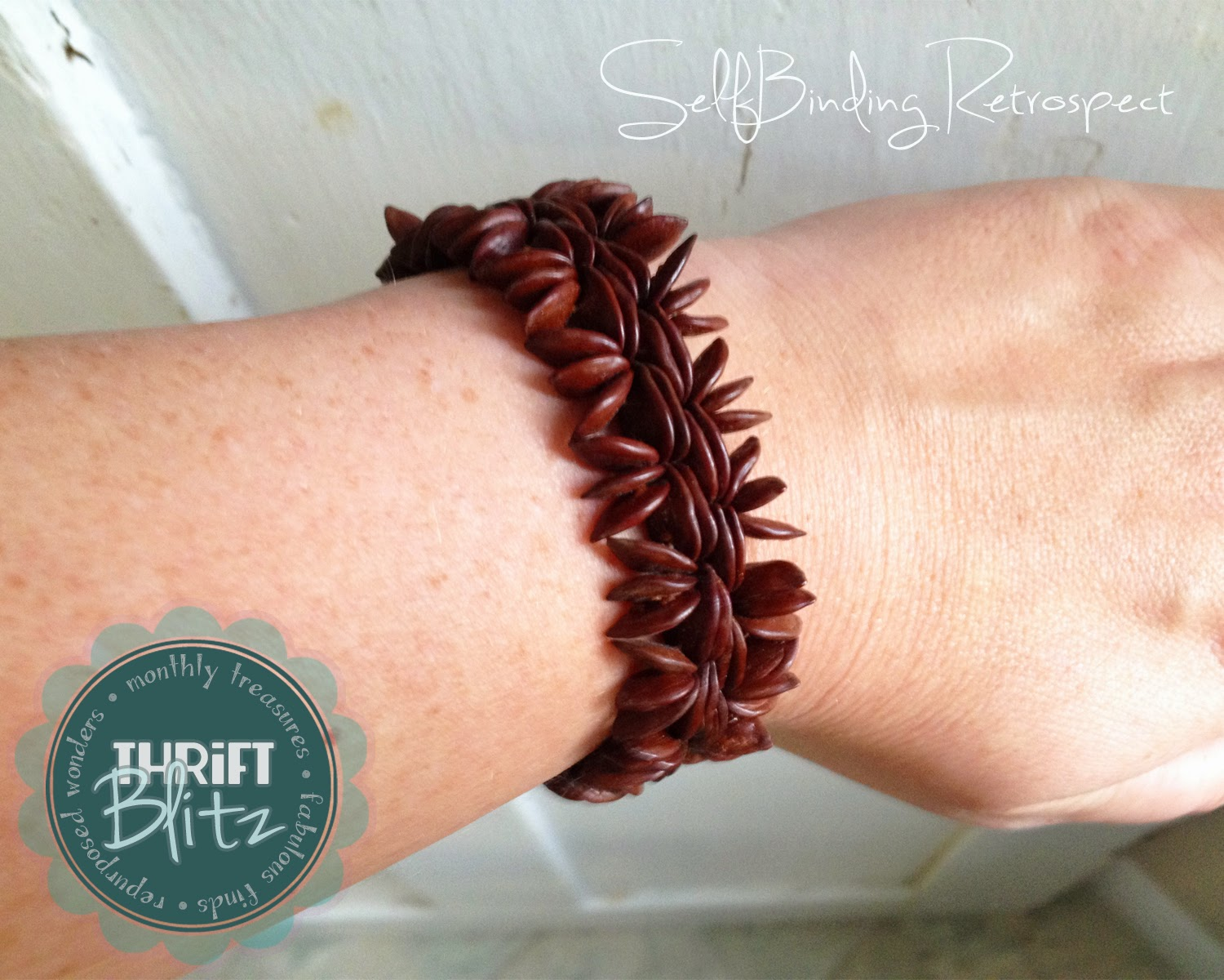 Thrift Blitz Episode One: Wooden Bracelet - SelfBinding Retrospect by Alanna Rusnak