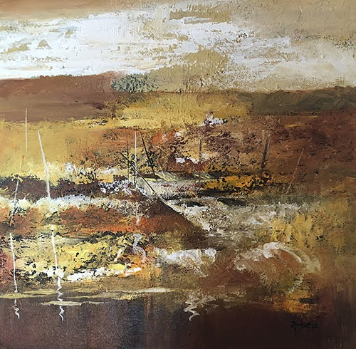 """""""Pradarshak presents abstract landscapes by Ambereen Dharamsey"""""""