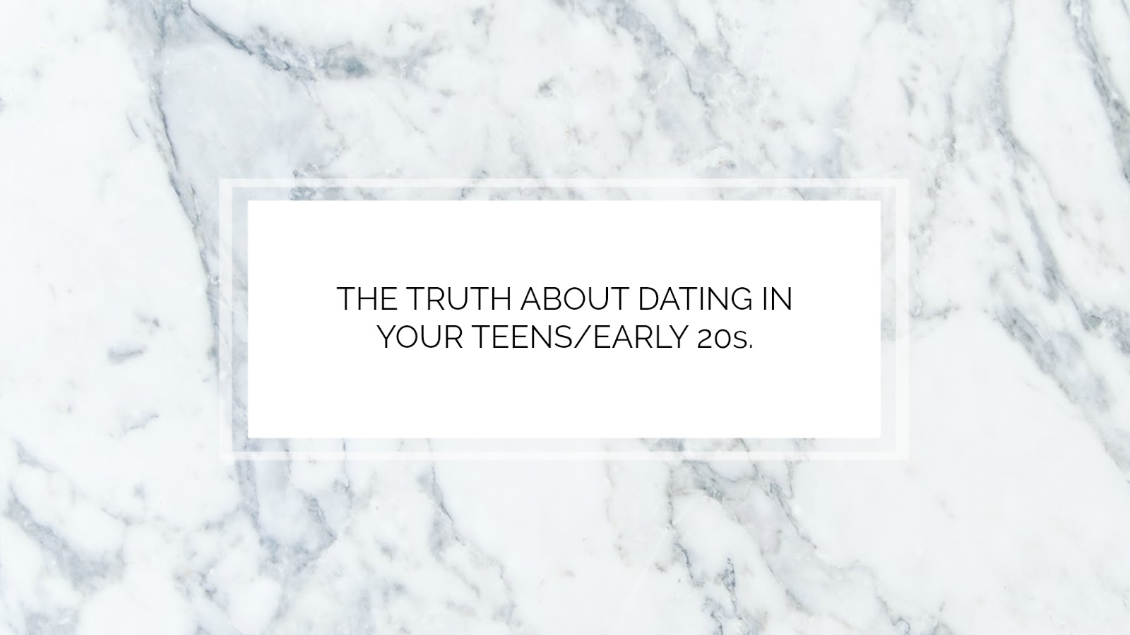 The truth about dating