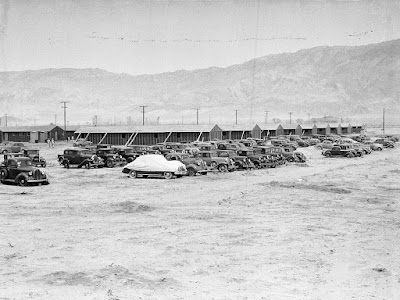 Clem Albers, Impounded Japanese American automobiles, Manzanar Relocation Center, April 1942. Courtesy National Archives and Records Administration