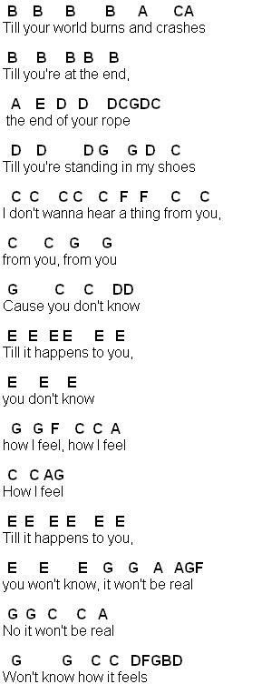 Flute Sheet Music: Til It Happens To You