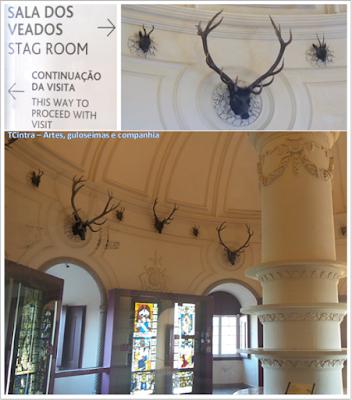 Sala dos veados; Palácio Nacional da Pena; Portugal; sem guia; Europa;