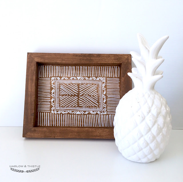 DIY Wooden Aztec Tray Anthropologoie Inspired - Harlow and Thistle - 1