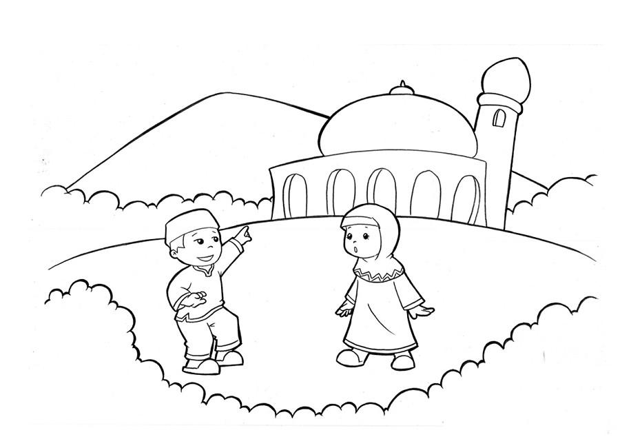 Gambar Kartun Pemandangan Islami Gambar Hq