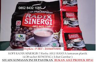 Jual Manfaat kopi herbal  radix asli dan bahaya minumkopi radik palsu