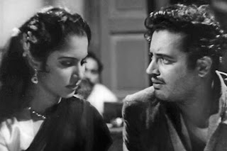 Waheeda Rehman and Guru Dutt in Pyaasa