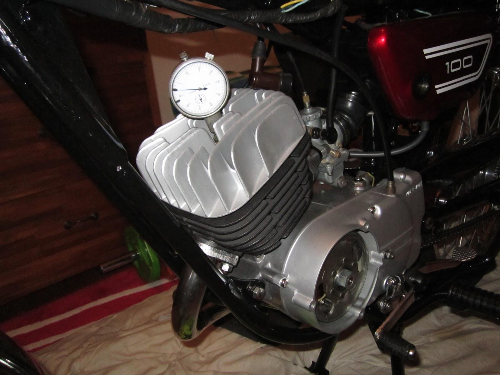 Restoration Yamaha LS3 1972: Ignition timing Yamaha two stroke