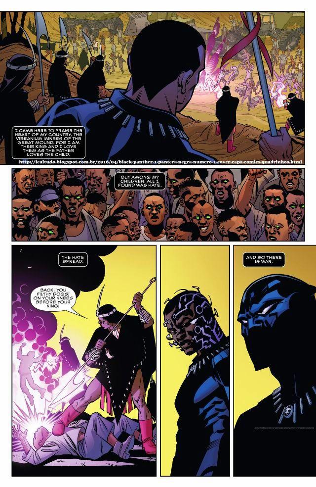 BLACK PANTHER #1 PANTERA NEGRA Número 1 By Ta-Nehisi Coates & Brian Stelfreeze - Desenhos Drawings Comics Revista em Quadrinhos - SOLIDÃO