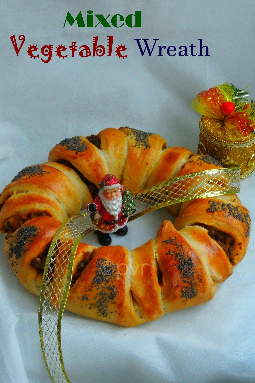 Spicy vegetable wreath bread