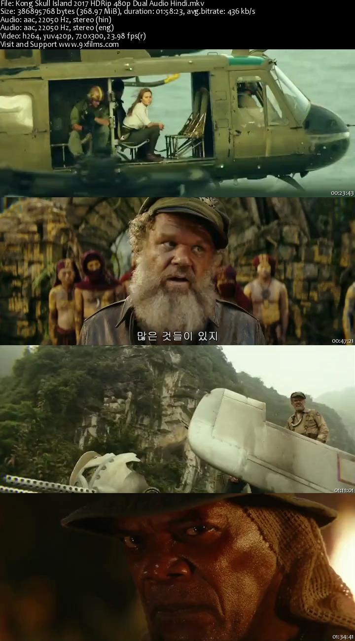 Kong Skull Island 2017 HDRip 480p Dual Audio Hindi