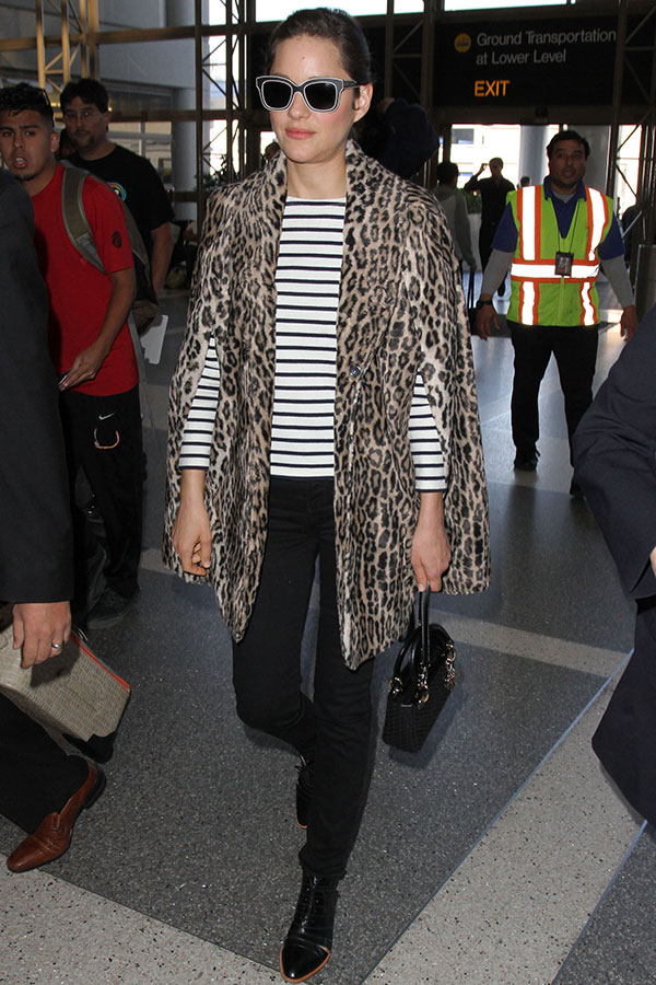 Marion Cotillard Airport Style, Celebrity Style