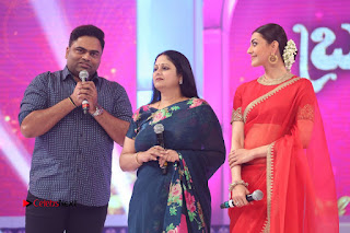 Actress Kajal Agarwal Stills in Red Saree at msavam Audio Launch   0140.JPG