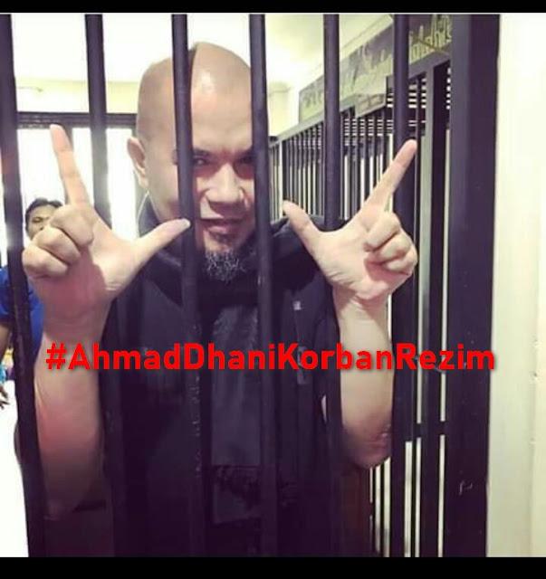 Divonis 1,5 Tahun dan Langsung Dipenjara, Tagar #AhmadDhaniKorbanRezim Bergema