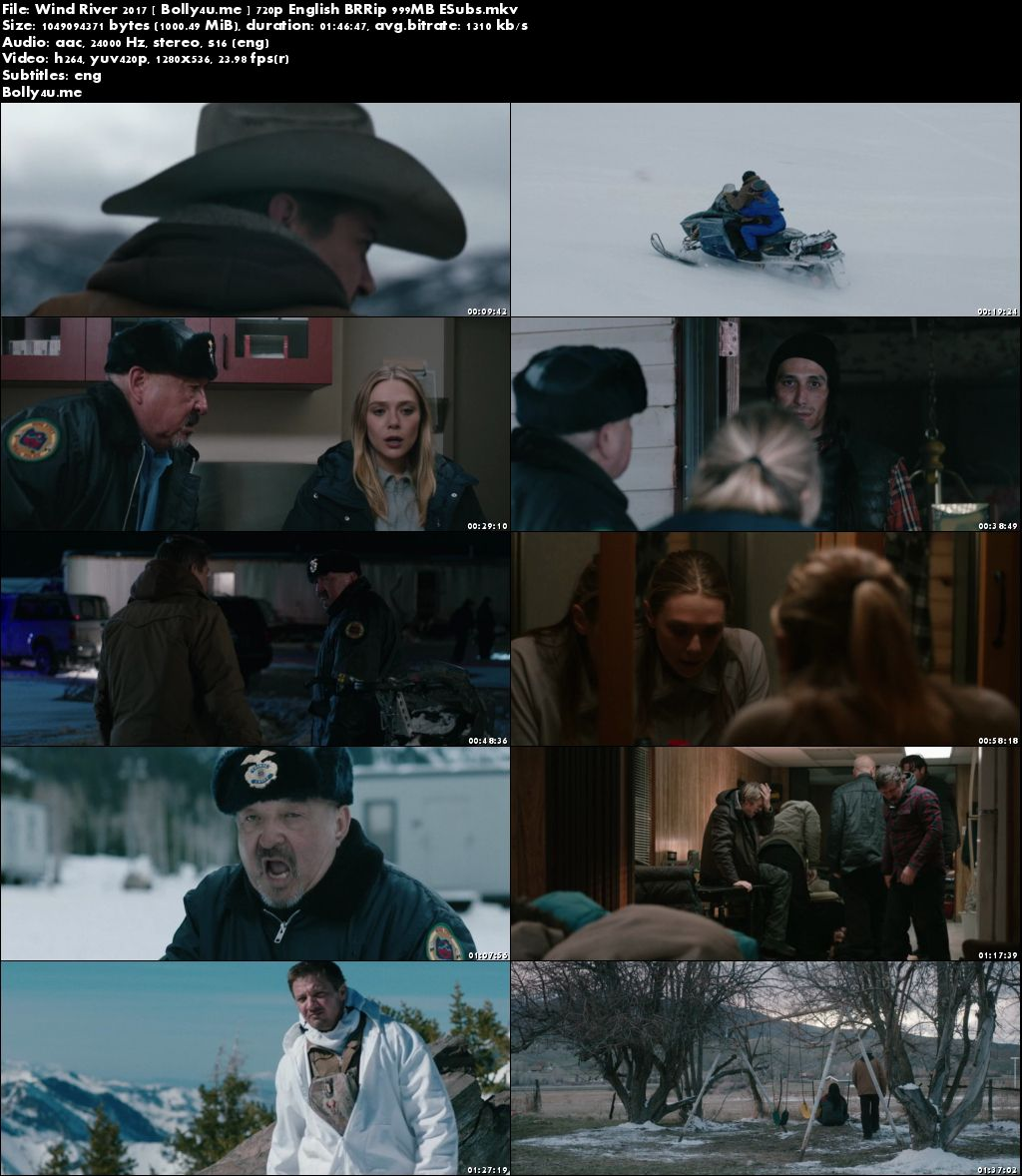 Wind River 2017 BRRip 999MB English 720p ESub Download