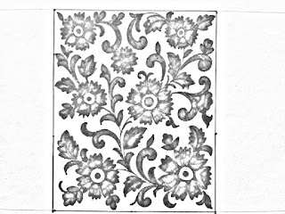 Jaal khaka drawings for hand embroidery saree design