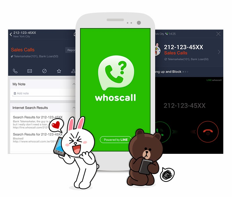 LINE whoscall free android app 2014