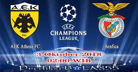 Prediksi Bola855 AEK Athens FC vs Benfica 3 Oktober 2018