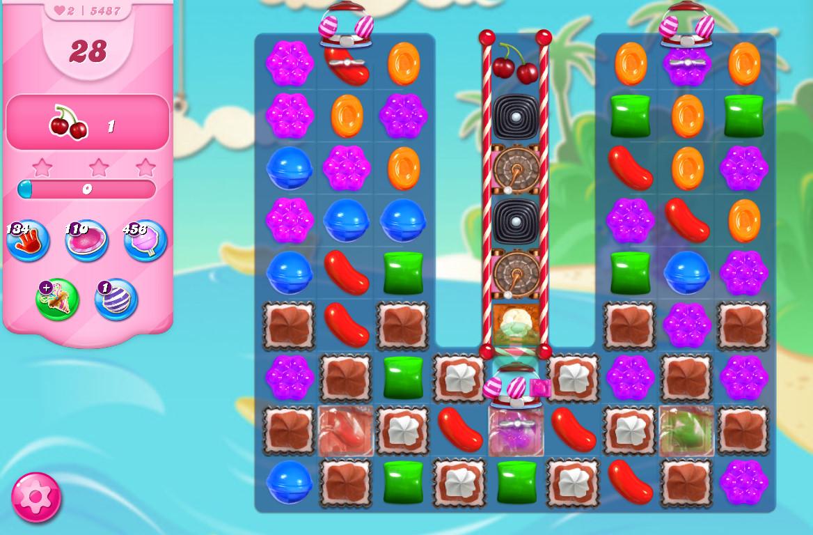 Candy Crush Saga level 5487