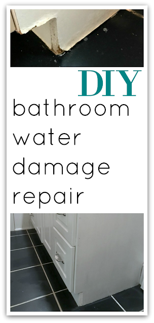 pinterest pin for repairing a damaged vanity